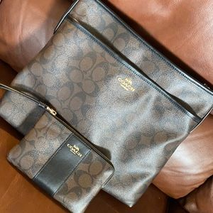 Coach large crossbody and wristlet
